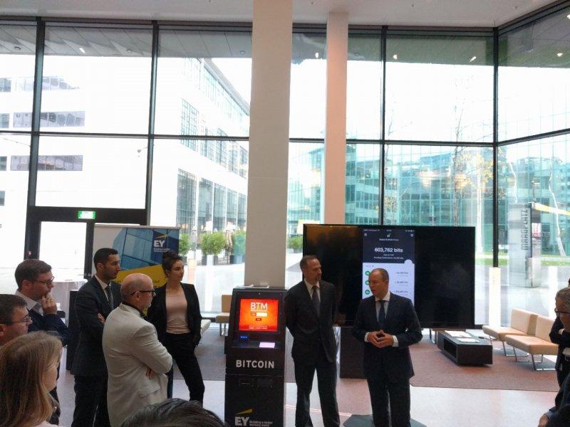 BitAccess Bitcoin ATM At EY Office In Zurich Maagplatz 1