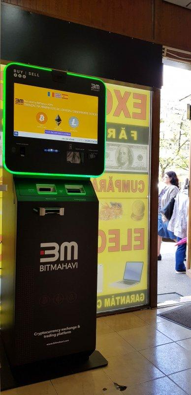 Auchan Titan - Bitcoin și bancomatele unde poți face tranzacții