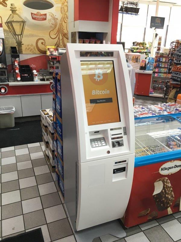 Bitcoin ATM in Dallas - Chevron Gas Station