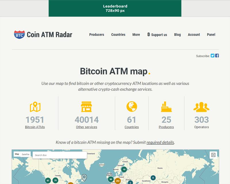 Banner Coin ATM Radar
