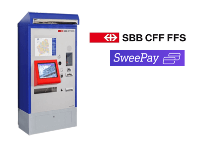 Sweepay and Swiss Railways cryptocurrency/cash exchange service provider