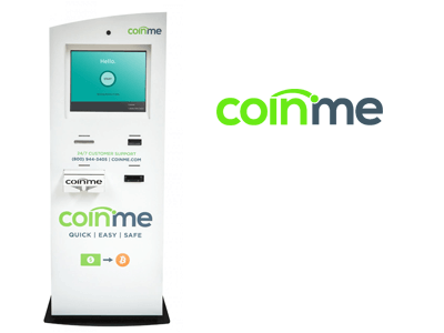 Coinme cryptocurrency ATM machine producer