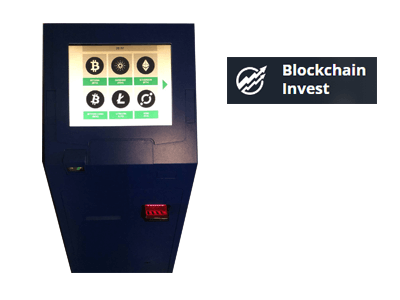 Blockchain Invest cryptocurrency ATM machine producer