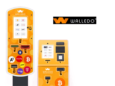 Walledo cryptocurrency/cash exchange service provider