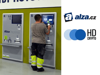 Alza and HD Crypto cryptocurrency/cash exchange service provider